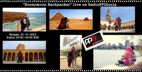 Kesempatan berbagi di Radio PPI Dunia saat mengembara di Tunisia, Mei 2013