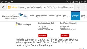 Garuda Special Offer dari Jakarta ke Balikpapan. 700-an ribu saja!