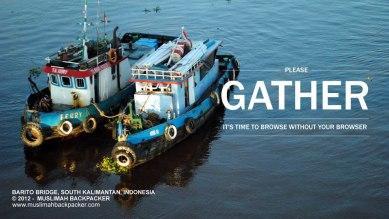 Contoh kelotok (kapal kecil) yang dijepret teman saya kala trip ke sungai Barito, Kalimantan Selatan