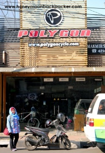 Toko sepeda Polygon di Jalan Veteran, Bandung
