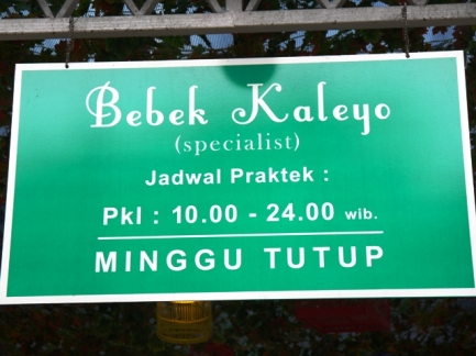 Jadual praktek Bebek Kaleyo Empat Belas, Bandung!