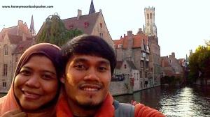Bahagia bisa wefie di lake of love, Brugge.