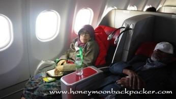 Mama Tertidur dalam pesawat Air Asia