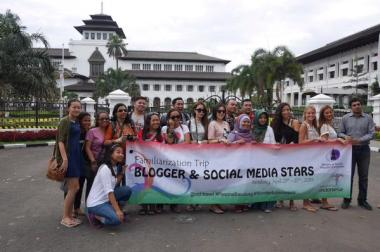 The member of Familiarization Trip by Tourism Ministry of Indonesia