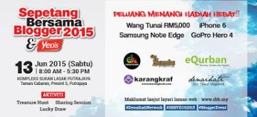 Banner Sepetang Bersama Blogger 2015 & Yeo's